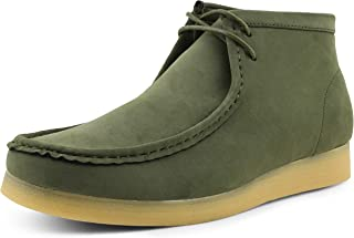 Jason2 Chukka Boots for Men - Men's High-Top Casual Boots Manmade Suede Desert Chukka Boots - Casual Boots Lace Up Crepe Rubber Sole - Mens Desert Chukka Boots