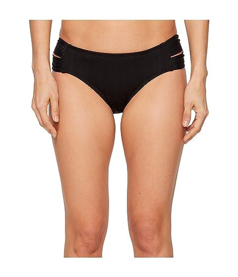 ATHENA Fine Line Double Side Tab Hipster Bikini Bottom, Black