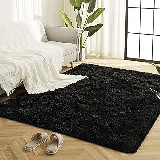Idailic Soft Bedroom Area Rugs, Fluffy Shag Area Rugs for...