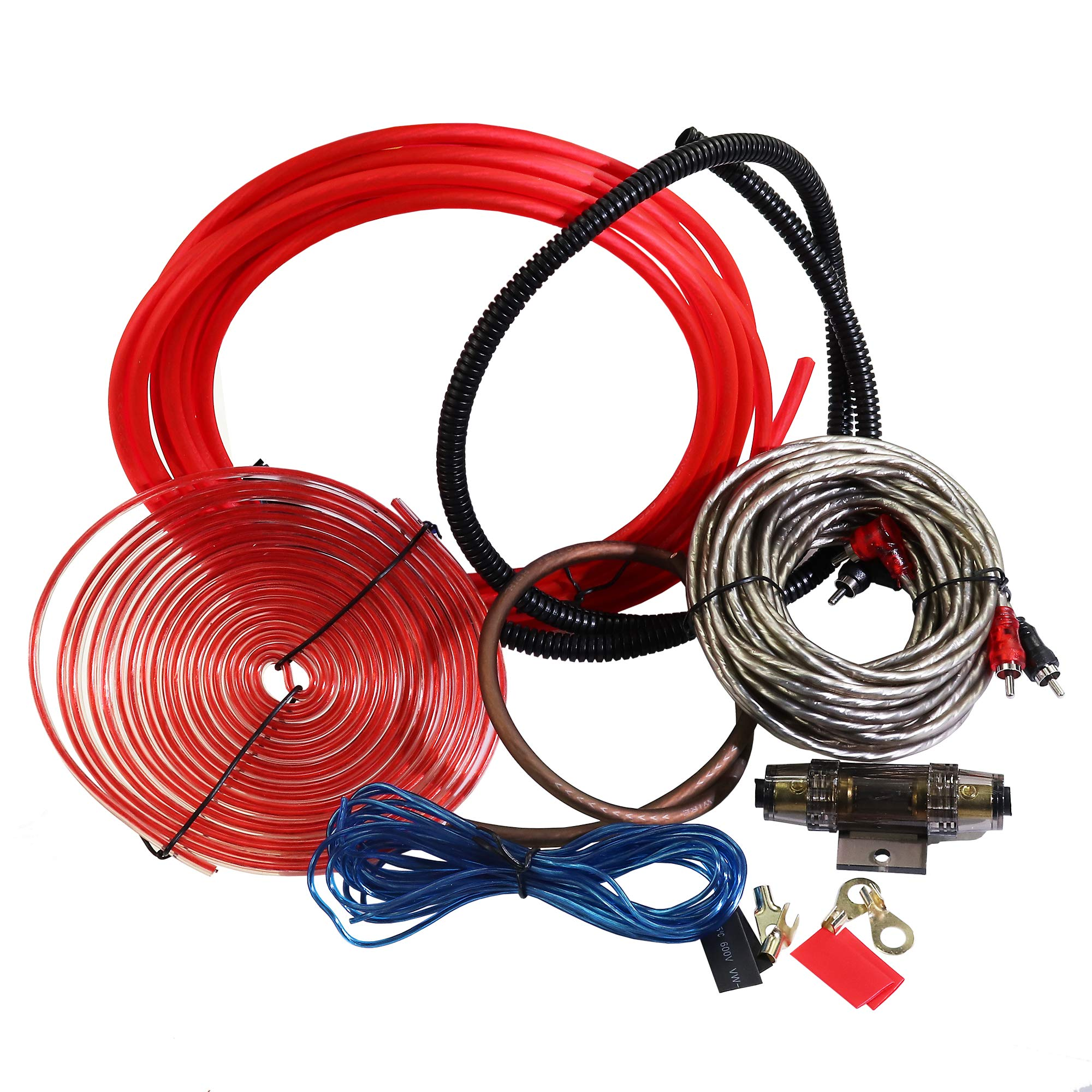 Subwoofers and Speakers A Car Amplifier Wiring Kit Helps You Make Connections and Brings Power to Your Radio Welugnal 4 Gauge Amplifier Installation Wiring Kit