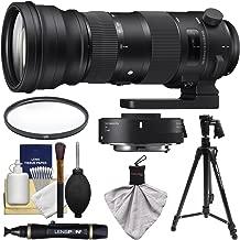 Sigma 150-600mm f/5.0-6.3 Sports DG OS HSM Zoom Lens & 1.4X Teleconverter + USB Dock + Pistol Grip Tripod + Filter + Kit for Nikon Digital SLR Camera