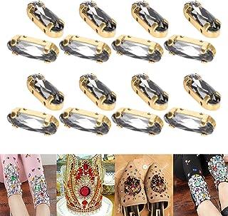 5x15mm ovale strass steentjes, make-up strass steentjes, festivals make-up voor nail art decoratie kleding(Transparent Black)