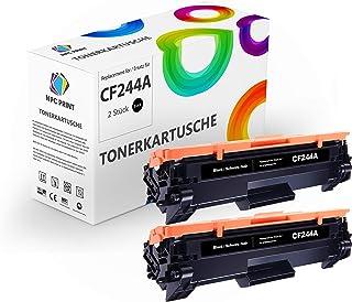 NPC PRINT - 2 cartuchos de tóner (equivalente a HP CF244A 44A para 1000 páginas, compatible con HP LaserJet Pro M14, M15, M15A, M15w, M17, M17a, M17w, M28, M28a, M28w)