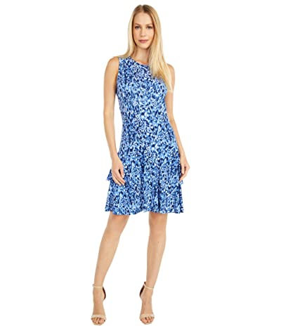 MICHAEL Michael Kors Ikat Mj Sleeveless Dress (True Navy) Women