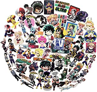 My Hero Academia Anime Cartoon Laptop Stickers(73pcs) Snowboard Laptop Luggage Car Motorcycle Bicycle Fridge DIY Styling Vinyl Home Decor (My Hero Academia 73)