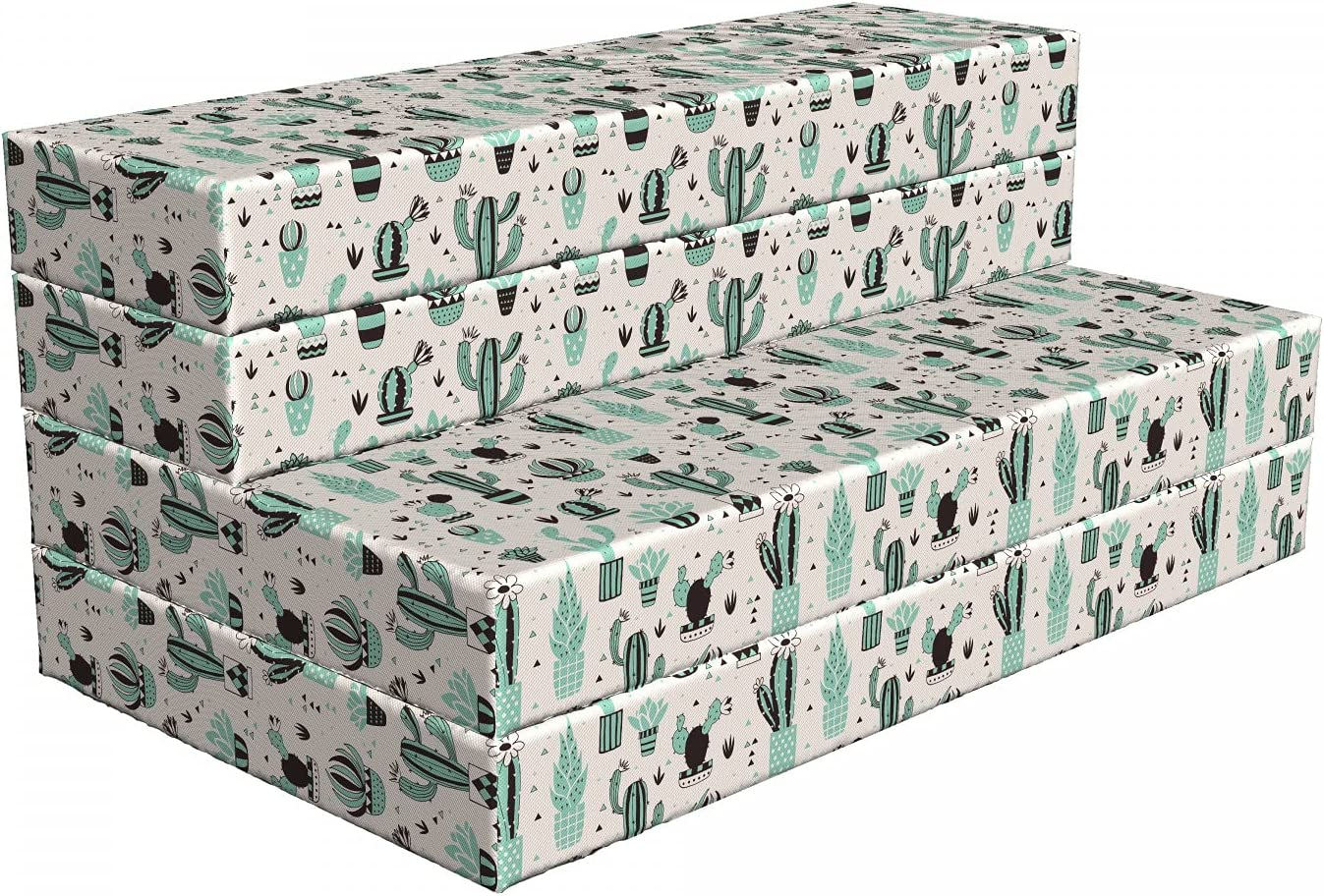Ambesonne Cactus Foldable Mattress Geometric 78. Cartoon Topics on New popularity TV Plant