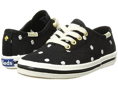 Keds x kate spade new york Kids Champion Seasonal (Toddler) (Black Dancing Dot) Girls Shoes