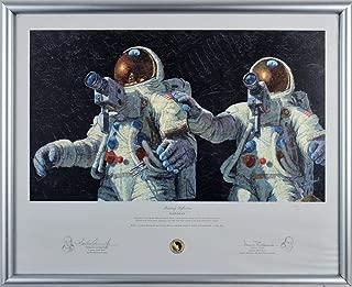 Alan Bean & Charles Conrad Apollo 12 Signed & Framed Art Print LE #145/850 BAS - Beckett Authentication