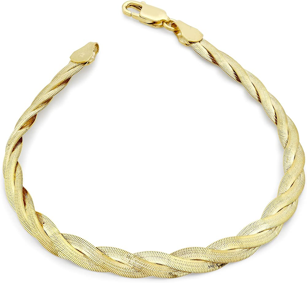 Carissima gold, bracciale per donna in oro giallo 9k/375(3,7gr)