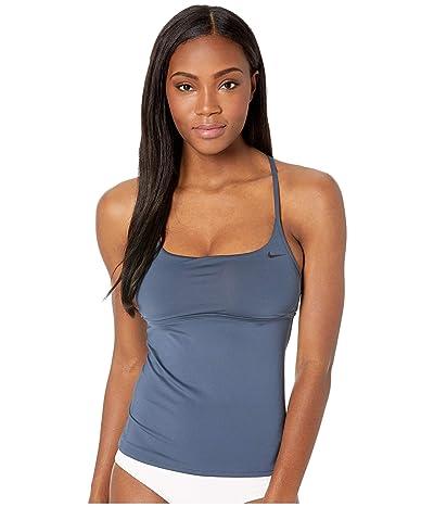 Nike Solid Cross-Back Tankini (Monsoon Blue) Women