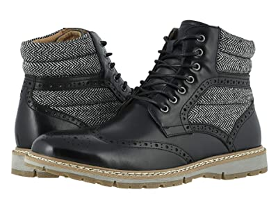 Stacy Adams Granger Wing Tip Lace Boot (Black) Men