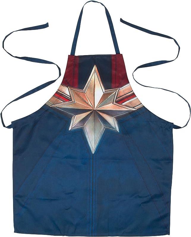 Captain Marvel Kitchen Apron Adjustable Adult Size Great For Cooking Baking