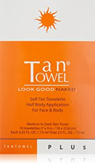 Tan Towel Self Tan Towelette Plus, 10 Count