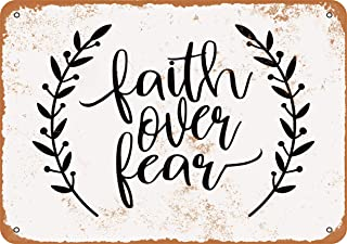 Wall-Color 10 x 14 Metal Sign - Faith Over Fear 2 - Vintage Look