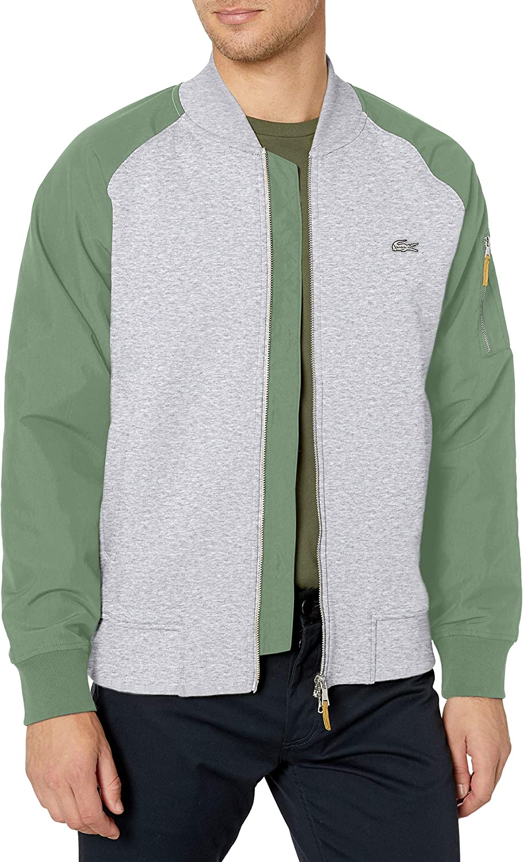 Lacoste Max 83% OFF Men's Long Sleeve Bomber Colorblock overseas Jacket