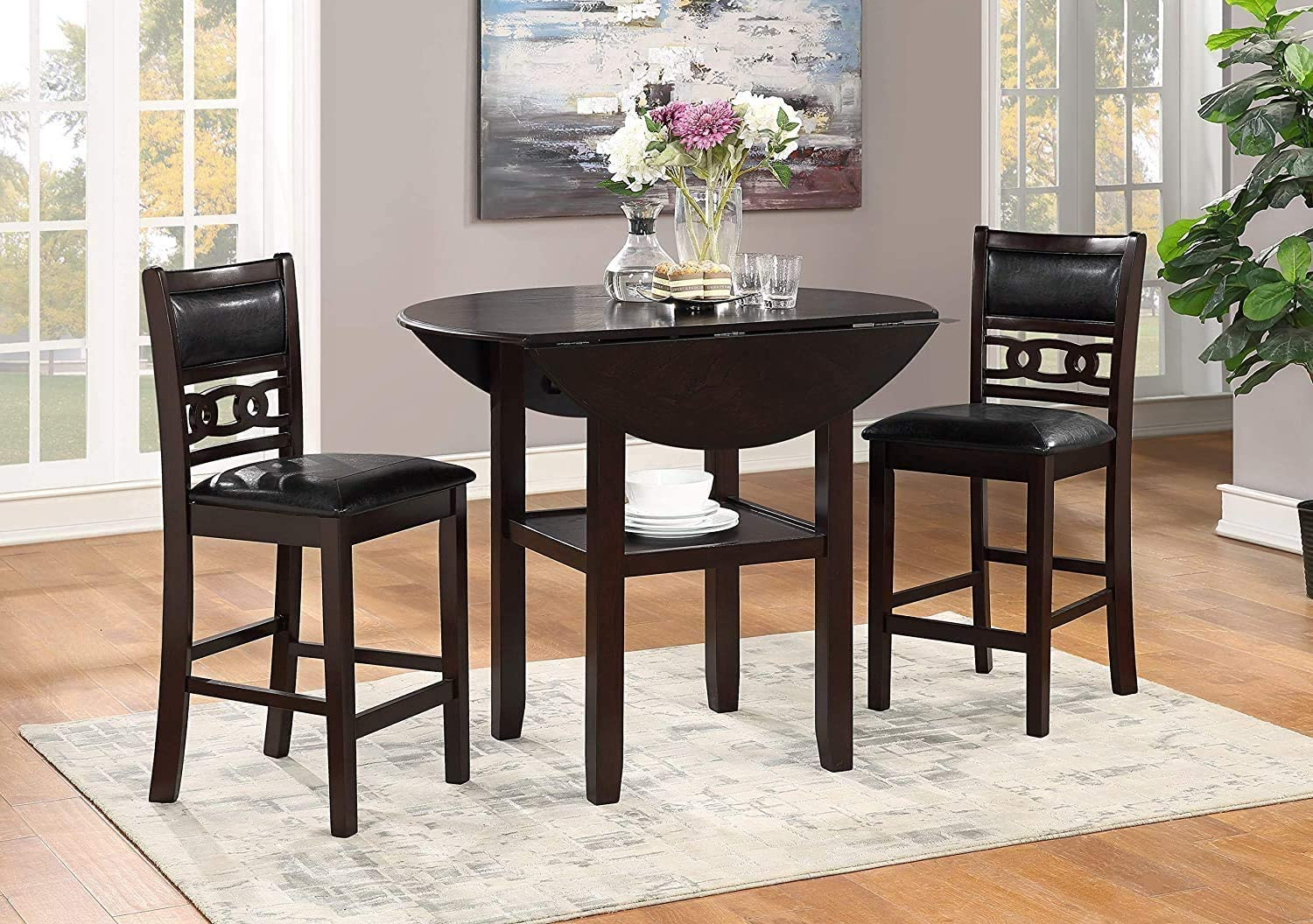 Buy New Classic FURNITURE Gia Drop Leaf Counter Table with Two ...