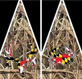 Maryland Hunters Camo Cornhole Decal Wrap Set 3M Laminated Vinyl Prints