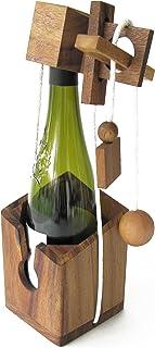 CASSE TETE pour BOUTEILLE jeu puzzle en bois massif aux normes CE, marque française, difficulté 3/6, accessoire de vin, id...