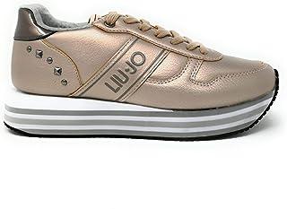 LIU JO Sneakers basse in pelle scamosciata con zeppa e