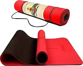 Robust TPE Yoga Mat Double Layer Anti-slip Eco Friendly texture surface (Size 183cmx 61cm) SGS Certified Position Liens & ...