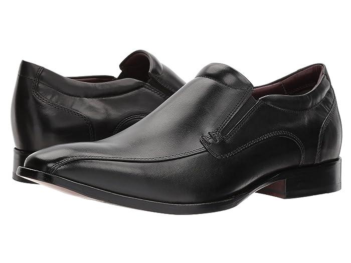 Johnston and Murphy  McClain Dress Venetian Slip-On (Black Full Grain) Mens Lace Up Cap Toe Shoes