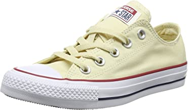 Converse Unisex Chuck Taylor All Star Low Top Natural White Sneakers - 5 B(M) US Women / 3 D(M) US Men