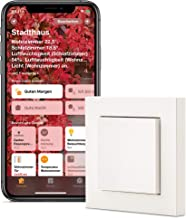 Eve Light Switch - Interruptor inteligente de luz, cambio sencillo y cruzado, compatibilidad con varios interruptores, horarios integrados, diseño ajustable (Apple HomeKit)