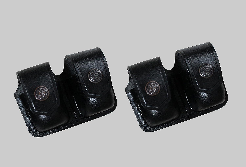 """D0306 Pancake Holster /& Double Speedloader Pouch 357 Magnum 4/"""" barrel Handmade!"""