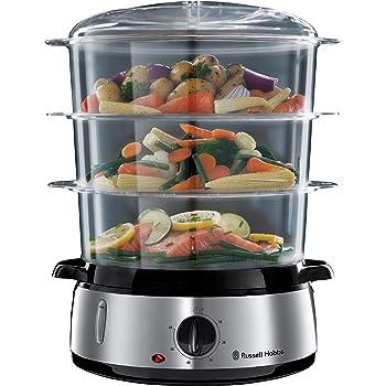 Moulinex XF384B10 - Accesorio para cocinar al vapor Cuisine Companion, capacidad de 3.7 L, suficiente para 6 personas, aporta 2 niveles de cocción adicionales a tu Cuisine Companion, asas aislantes: Amazon.es: Hogar