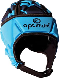 Optimum Men's Razor Headguard, Cyan/Black, Large