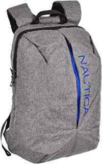 Nautica Nylon Backpack - gray, one size