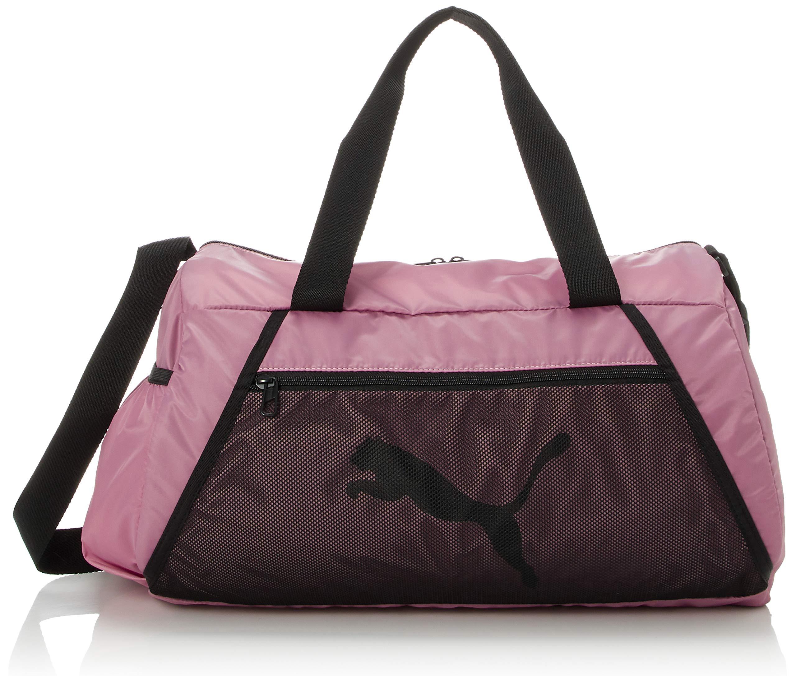 PUMA Damen at ESS Barrel Bag Sporttasche, Foxglove Black, OSFA