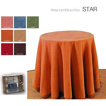 INUSUAL Falda o Ropa de Camilla Redonda Verano 90x75 y a Medida, Modelo Victoria (CAMEL2): Amazon.es: Hogar