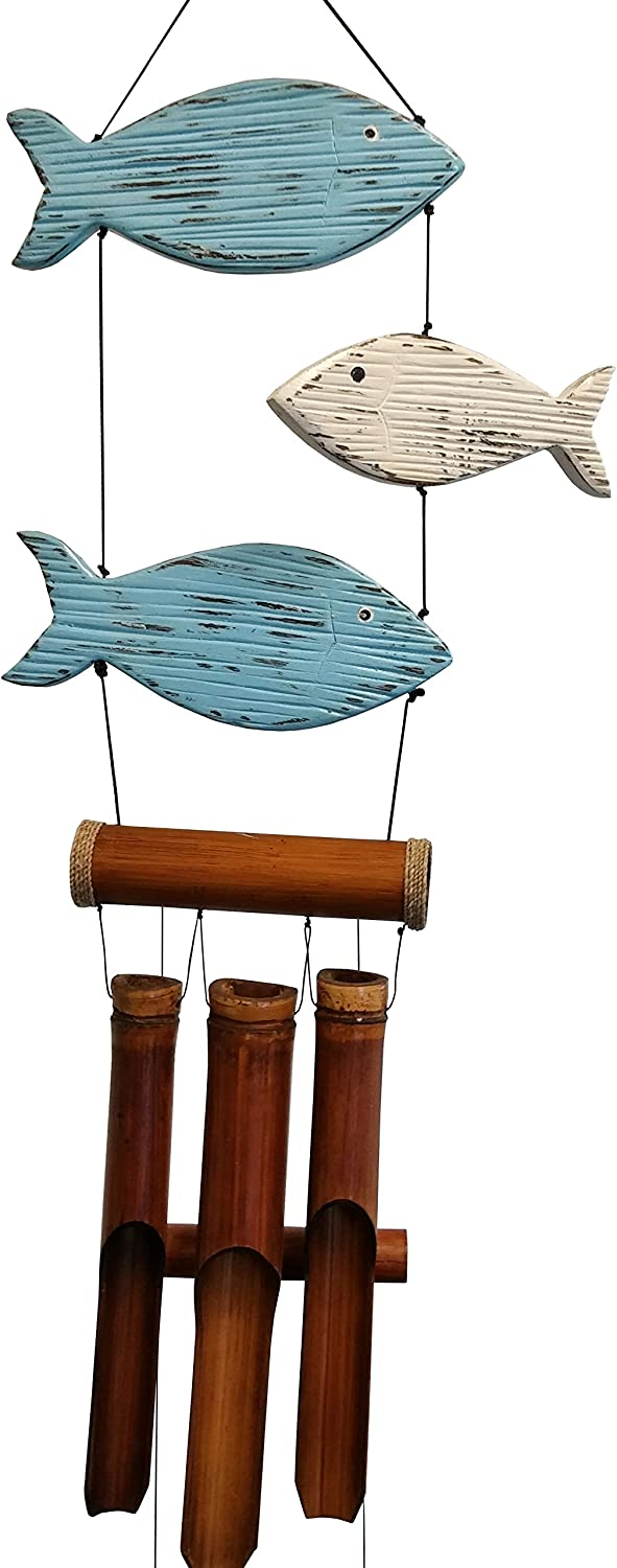 Cohasset Gifts excellence 195 Fun Fish W Bamboo Special sale item Blue Chime Wind