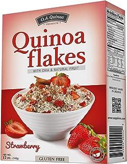 O.A. FOODS Quinoa Flakes, Strawberry, 340 gm