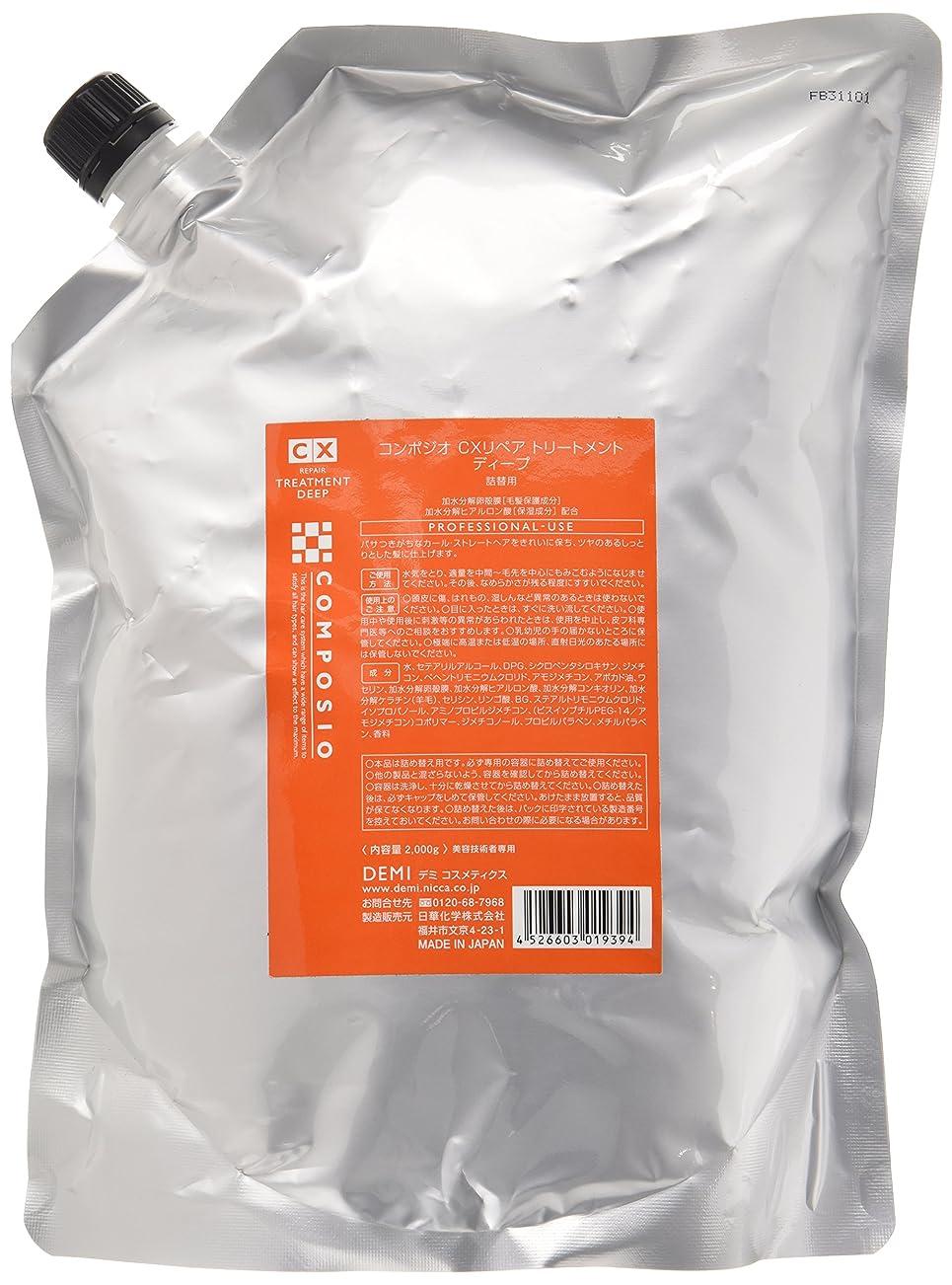 予防接種パケットカヌーデミ コンポジオ CXリペアトリートメント ディープ 2000g