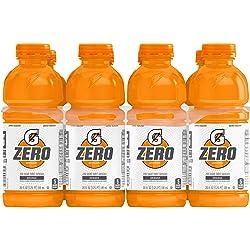 Gatorade Zero Sugar Thirst Quencher, Orange, 20 Ounce Bottles (Pack of 8)
