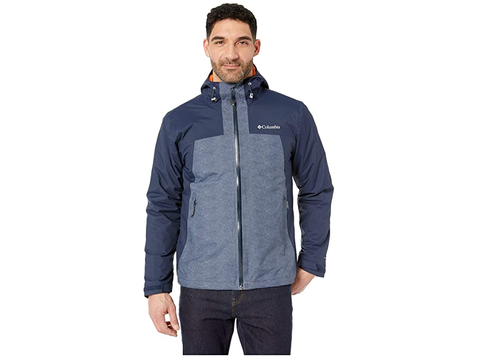 Columbia Top Pinetm Insulated Rain Jacket (Collegiate navy/Mountain Maze Print/Desert Sun) Men
