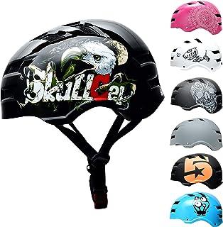 comprar comparacion SkullCap® Casco de Skate y BMX Bicicleta Y Scooter Eléctrico Niños 5-13 Años Adultos De 14 A 39 Años
