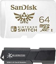 SanDisk MicroSDXC UHS-I Card per Nintendo Switch & BlueProton USB 3.0 MicroSDXC lettore di schede 64GB 64GB