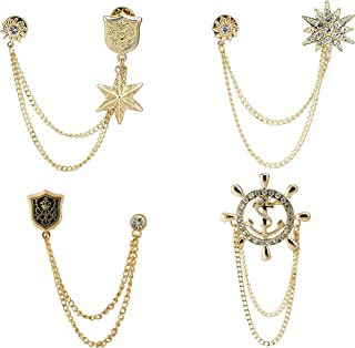 Knighthood Set of 4 Lapel Pin Badge Coat Suit Wedding Gift Party Shirt Collar Accessories Brooch for Men