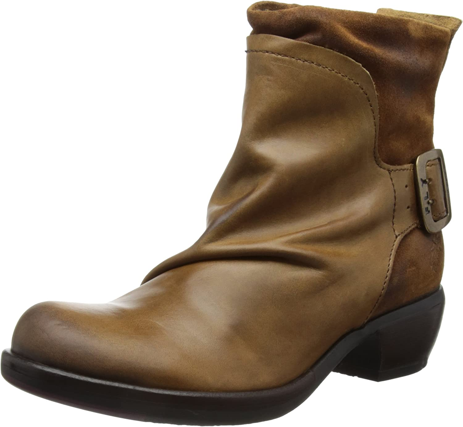 Fly London Mel Camel Leather Womens Boots