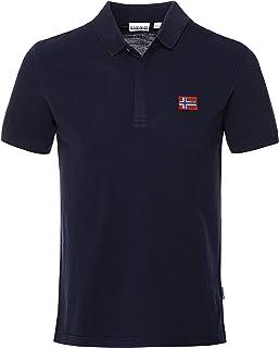 Napapijri Men's Organic Cotton Ebea Polo Shirt Navy L