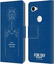 Official Star Trek Discovery Blueprint U.S.S Discovery NCC - 1031 Leather Book Wallet Case Cover Compatible for Google Pixel 3a