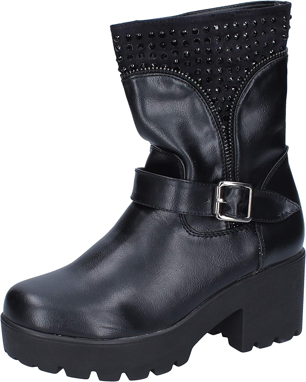 FRANCESCO MILANO Boots Womens Leather Black