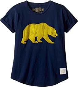 The Original Retro Brand Kids - Cal Bear Short Sleeve Crew Tee (Big Kids)