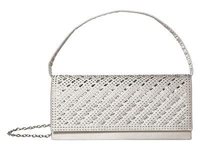 Jessica McClintock Petra (Silver) Clutch Handbags