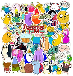 50 Pcs Cartoon Adventure Time with Finn and Jake Stickers for Water Bottles Hydroflasks Skateboard Decal Stickers for Teens, Girls, Boys, Adults Laptop Stickers (Adventure Time with Finn and Jake)