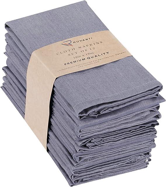 Ruvanti Kitchen Cloth Napkins 12 Pack (18