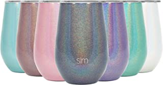 Simple Modern Spirit 12oz Wine Tumbler Glass with Lid - Vacuum Coffee Mug Stemless Cup 18/8 Stainless Steel Shimmer: Blue Moonstone
